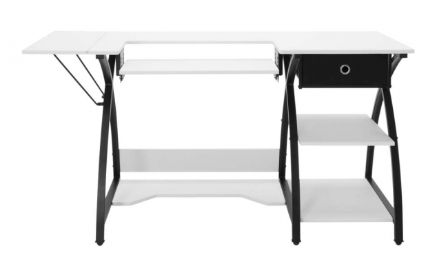 Comet Hobby and Sewing Desk - Black/White